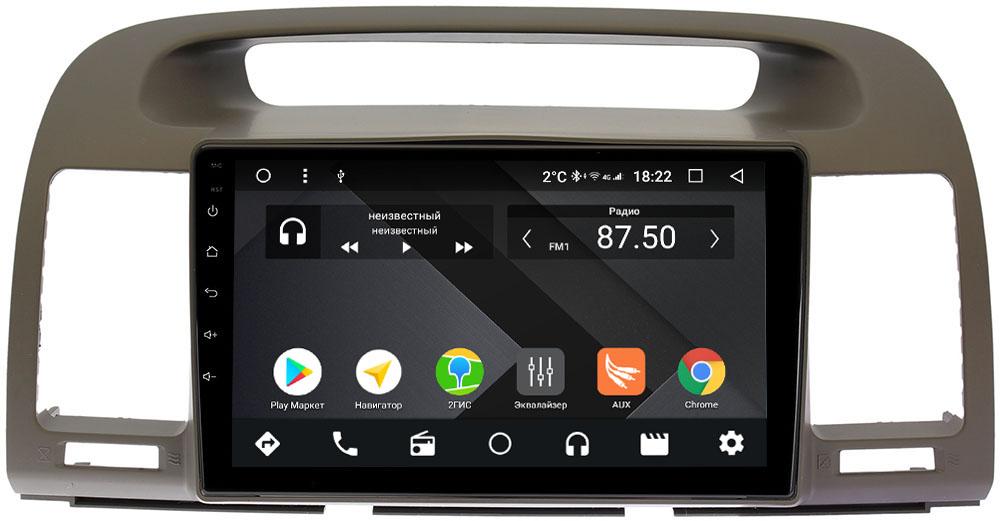 Штатная магнитола Toyota Camry V30 2001-2006 Wide Media CF9105-OM-4/64 на Android 9.1 (TS9, DSP, 4G SIM, 4/64GB) (+ Камера заднего вида в подарок!)