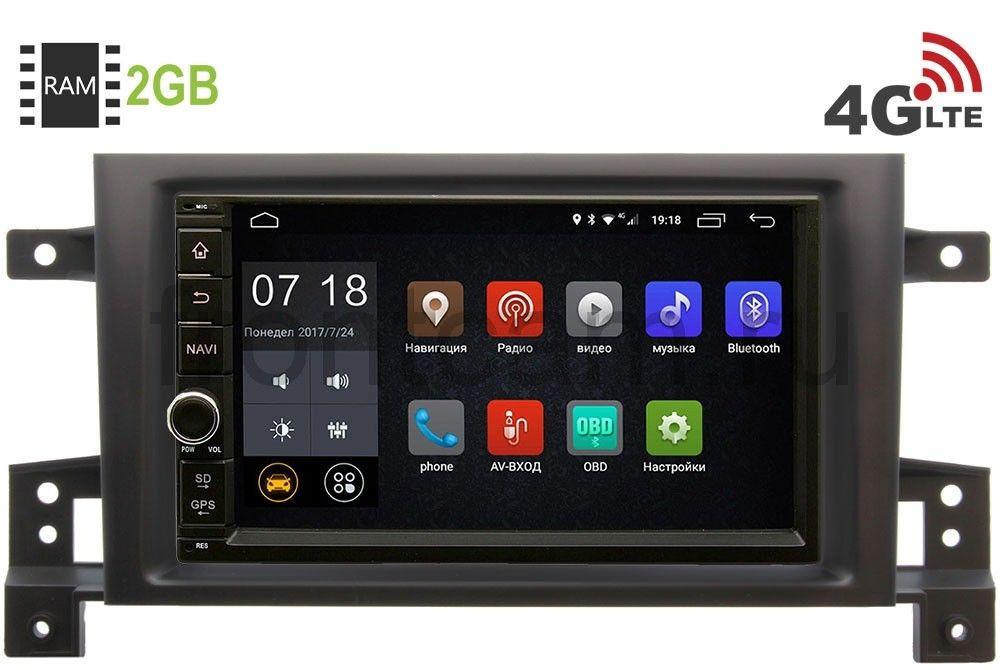 Штатная магнитола Suzuki Grand Vitara III 2005-2015 LeTrun 1968-RP-SZES3d-14 Android 6.0.1