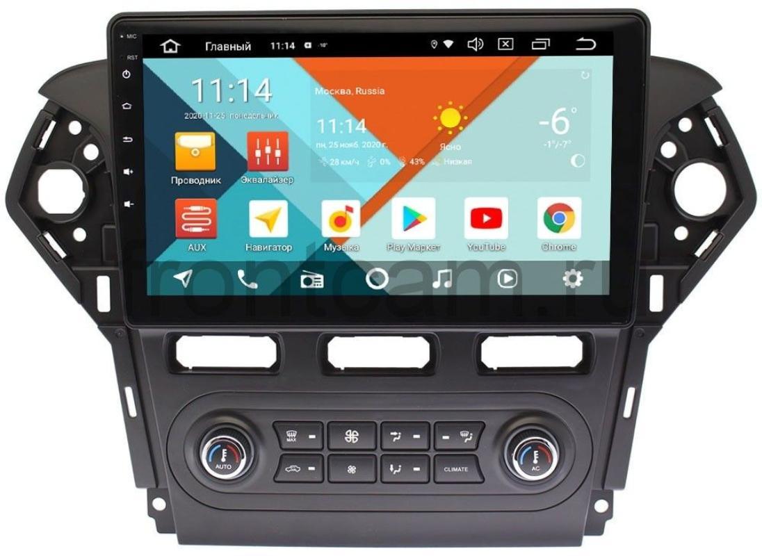 Штатная магнитола Ford Mondeo IV 2010-2015 Wide Media KS1018QM-2/32 DSP CarPlay 4G-SIM для авто с климат-контролем на Android 10 (+ Камера заднего вида в подарок!)