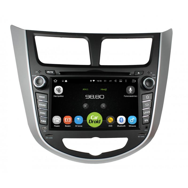 Штатная магнитола Roximo CarDroid RD-2003D для Hyundai Solaris (Android 8.0) DSP (+ Камера заднего вида в подарок!)