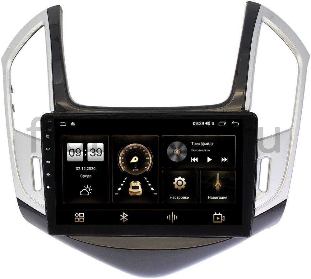 Штатная магнитола LeTrun 4196-9265 для Chevrolet Cruze I 2012-2015 (черно-серый глянец) на Android 10 (6/128, DSP, QLed) С оптическим выходом (+ Камера заднего вида в подарок!)