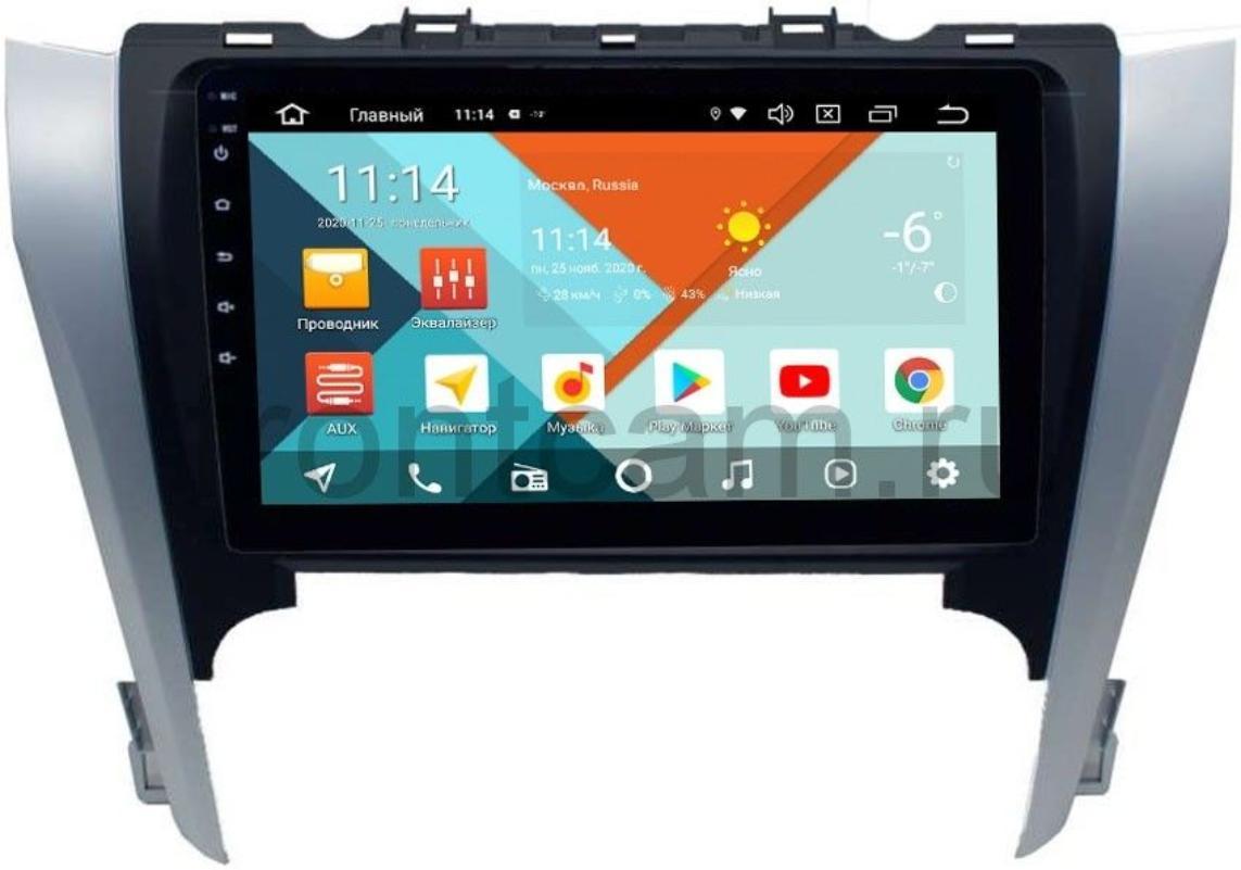 Штатная магнитола Wide Media KS3103QR-3/32 DSP CarPlay 4G-SIM для Toyota Camry V50 на Android 10 (+ Камера заднего вида в подарок!)