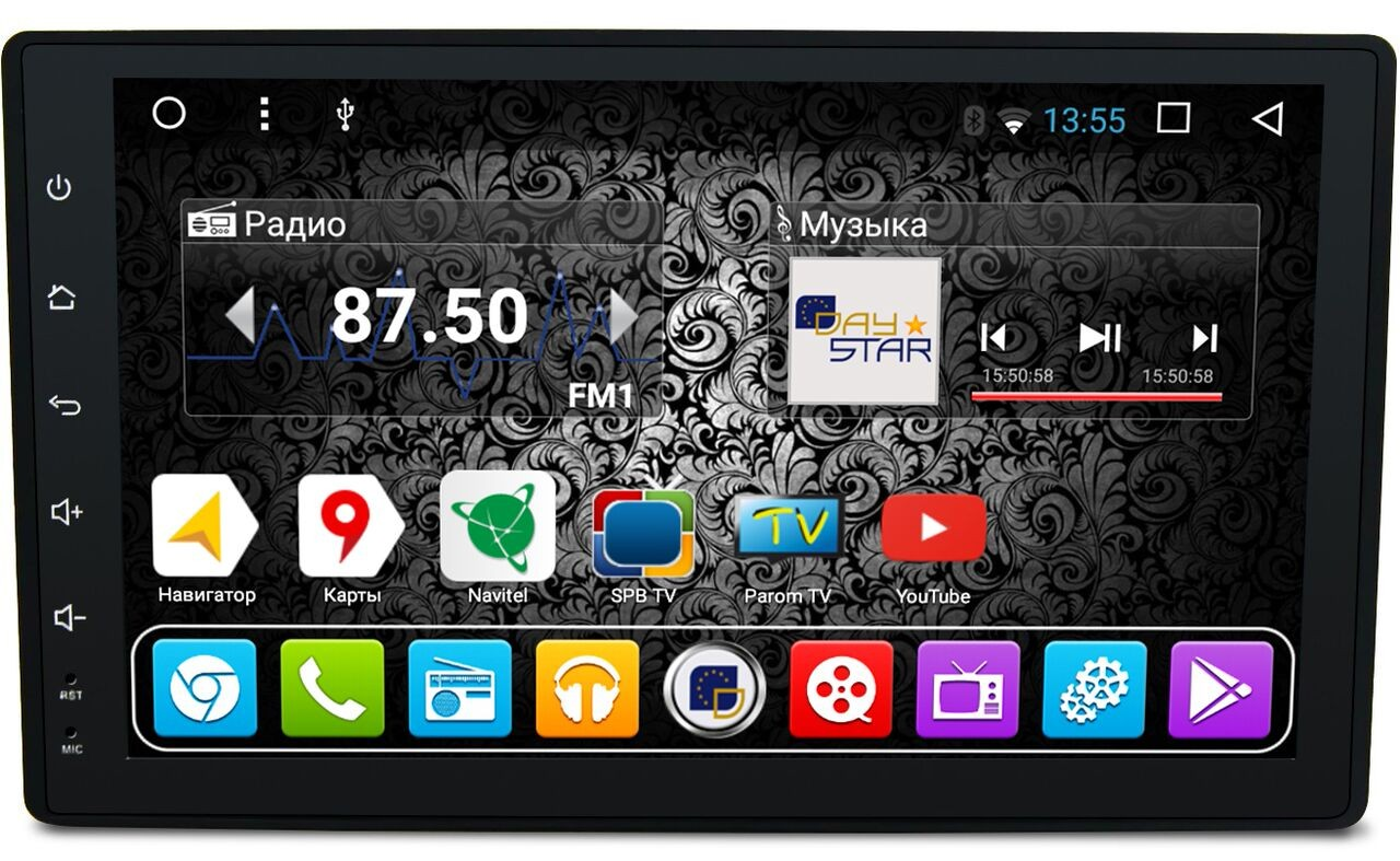 Штатная магнитола DayStar DS-8009HB Toyota Hilux 2015+ Android (8 ядер, 2Gb ОЗУ, 32Gb памяти) + 3G модем (+ камера заднего вида и 3G модем) daystar ds 7077hd
