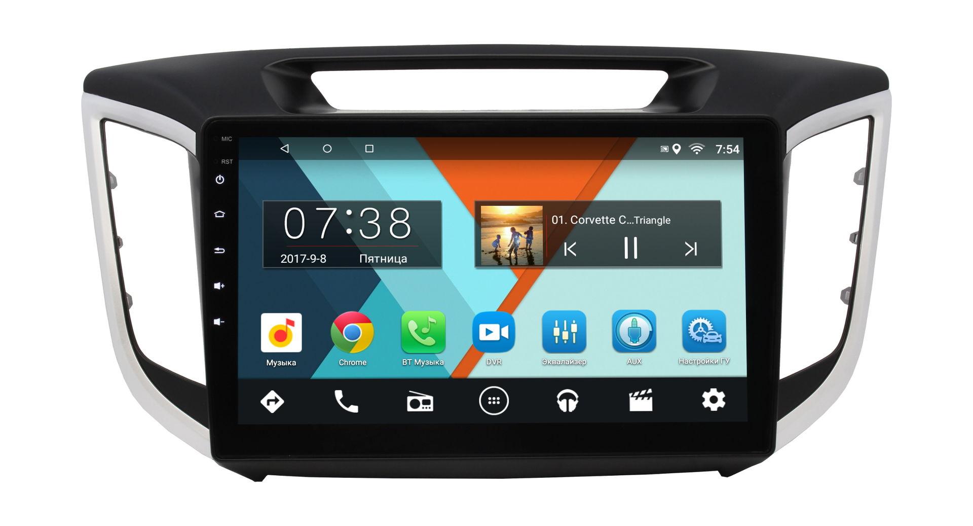 Штатная магнитола Hyundai Creta 2016-2018 Wide Media MT1028MF-1/16 на Android 6.0.1 для авто без камеры авто химия