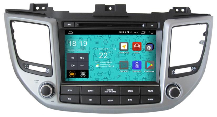 Штатная магнитола Parafar 4G/LTE для Hyundai Tucson 2016+ с DVD на Android 7.1.1 (PF546D) unlocked netger 4g 150mbps sierra wireless router aircard 770s 4g lte mobile wifi hotspot dongle 4g pocket wifi