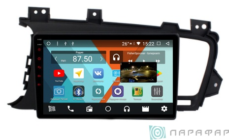 Штатная магнитола Parafar с IPS матрицей для Kia Optima 3 2010-2013 на Android 8.1.0 (PF480K) камера заднего вида для kia и hyundai intro vdc 094 kia k5 2010 2013 kia optima 2010 2012 hyndai i40 2011 2013