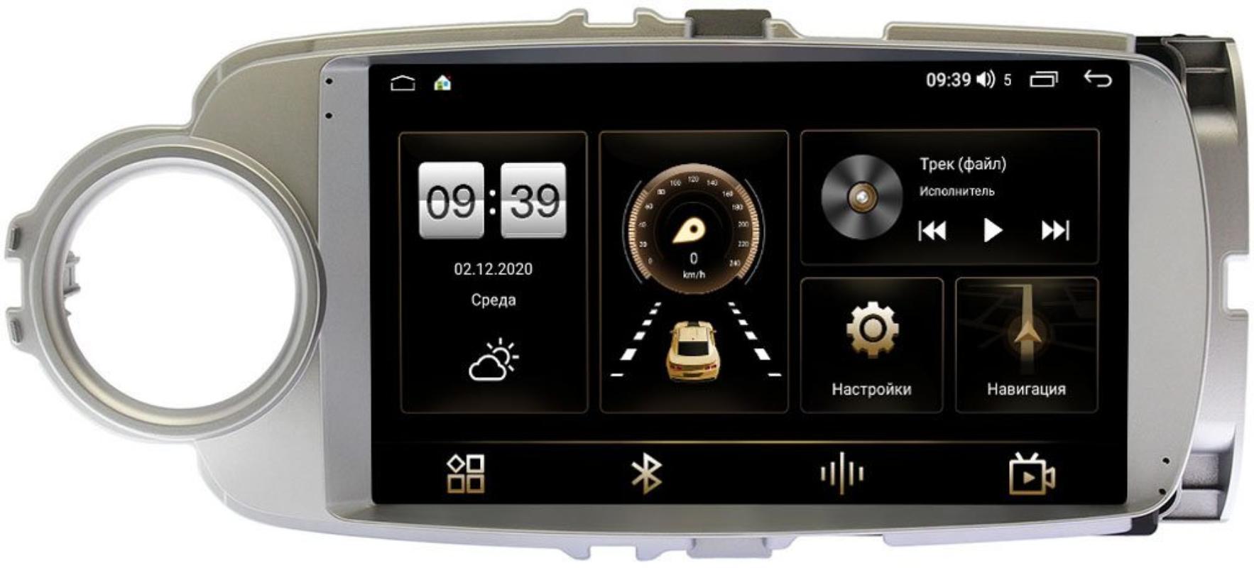 Штатная магнитола LeTrun 4196-9245 для Toyota Yaris III (XP130), Vitz III (XP130) 2010-2018 на Android 10 (6/128, DSP, QLed) С оптическим выходом (+ Камера заднего вида в подарок!)