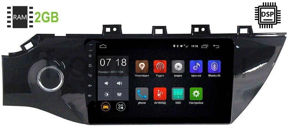 Штатная магнитола Kia Rio IV 2017-2019 LeTrun 1925-2986 Android 9.0 10 дюймов (DSP 2/16GB) 9012 (+ Камера заднего вида в подарок!)