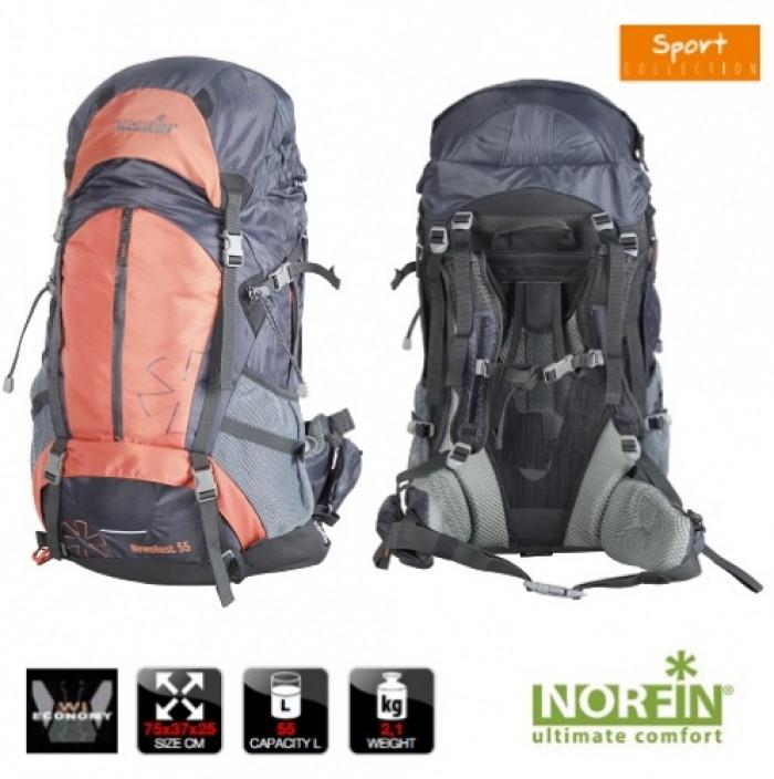 Рюкзак Norfin NEWEREST 55 NS рюкзак erg ns xo 25l stripes l ck erry ltlil c 3725
