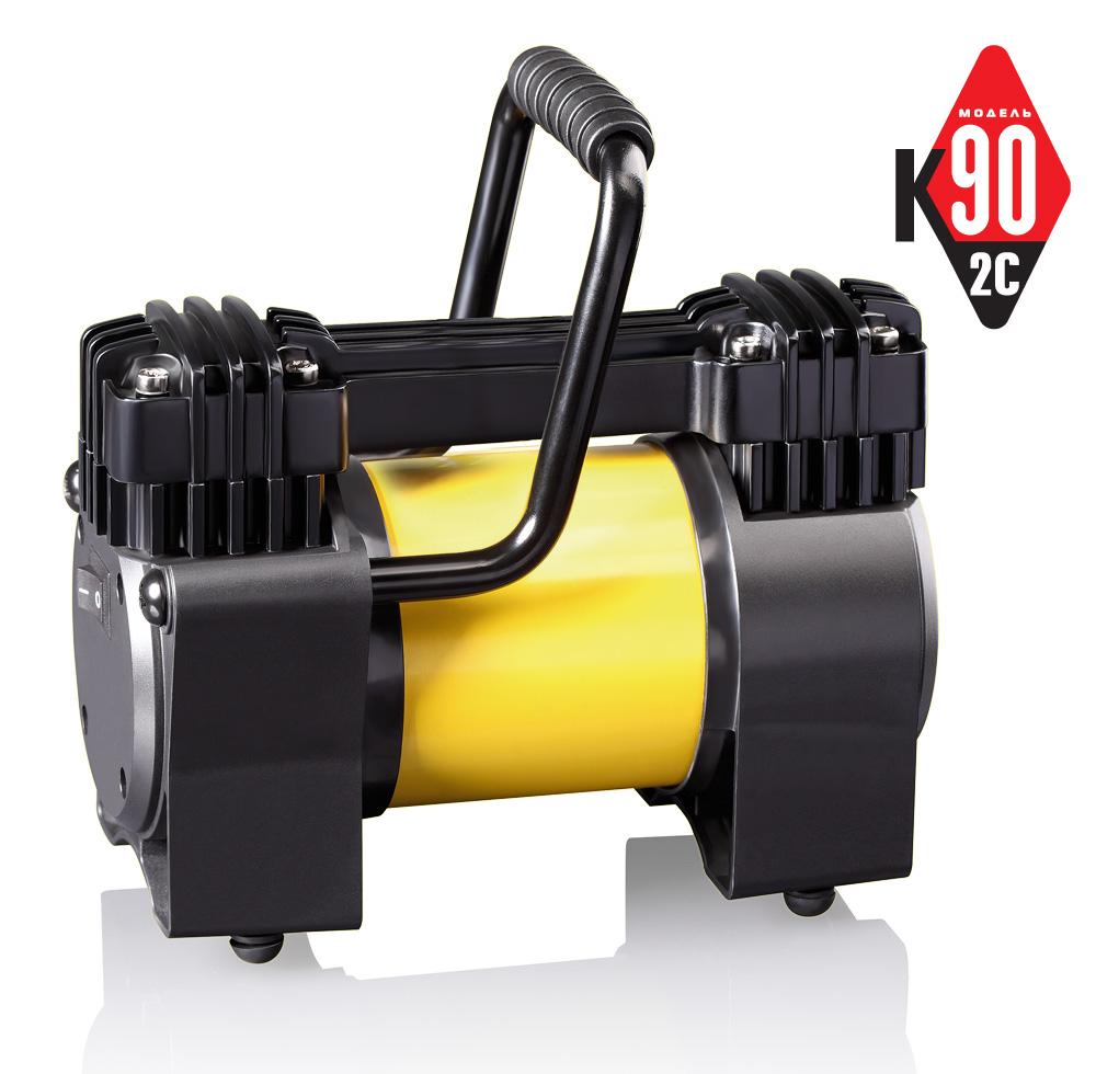 Компрессор автомобильный КАЧОК К90x2C (+ Мешки для колёс в подарок!) манометр качок m10