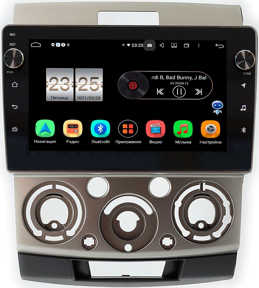 Штатная магнитола Mazda BT-50 I 2006-2011 (бронза) LeTrun BPX409-417 на Android 10 (4/32, DSP, IPS, с голосовым ассистентом, с крутилками) (+ Камера заднего вида в подарок!)