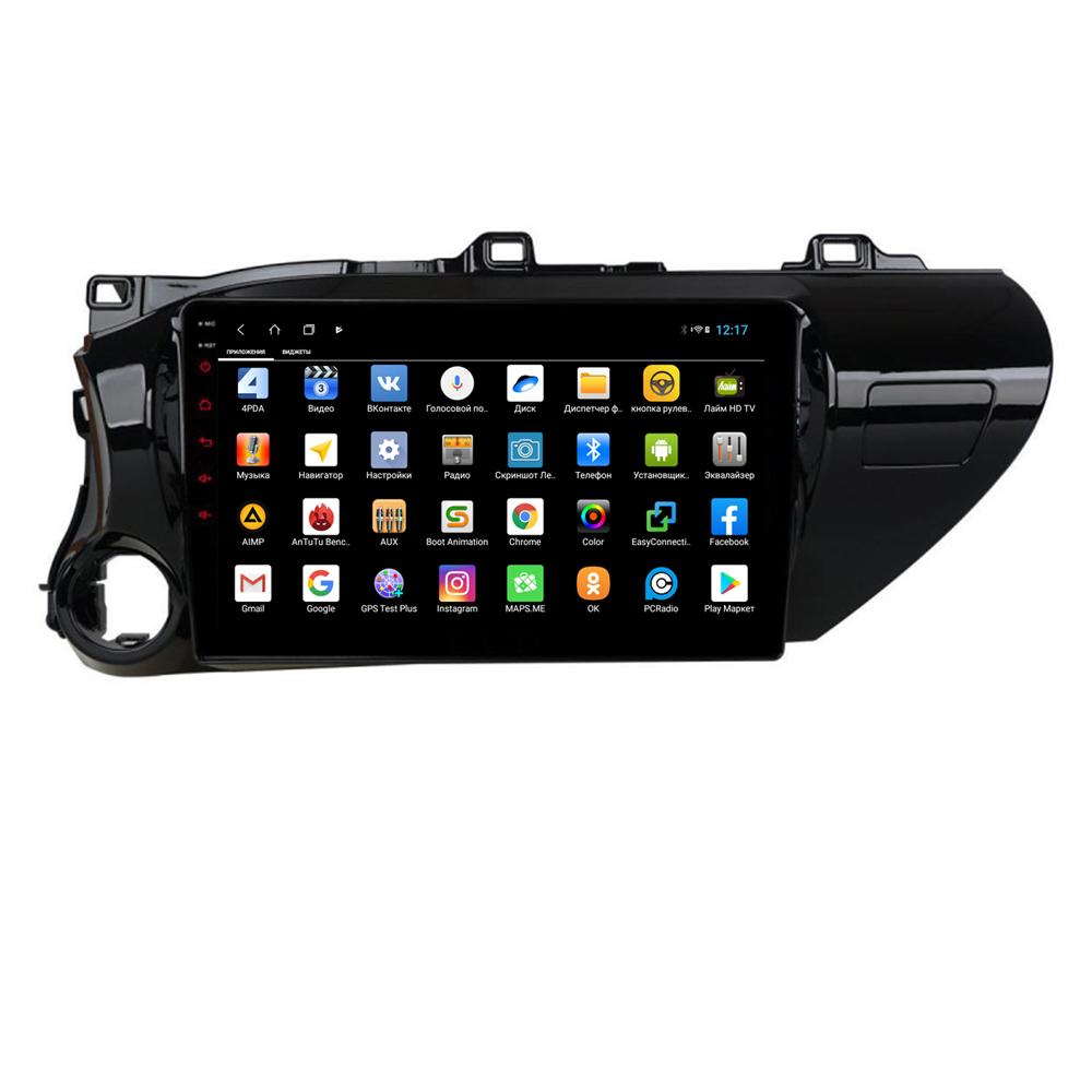 Штатная магнитола Parafar для Toyota Hilux 2018+ Android 8.1.0 (PF063XHD) (+ Камера заднего вида в подарок!)