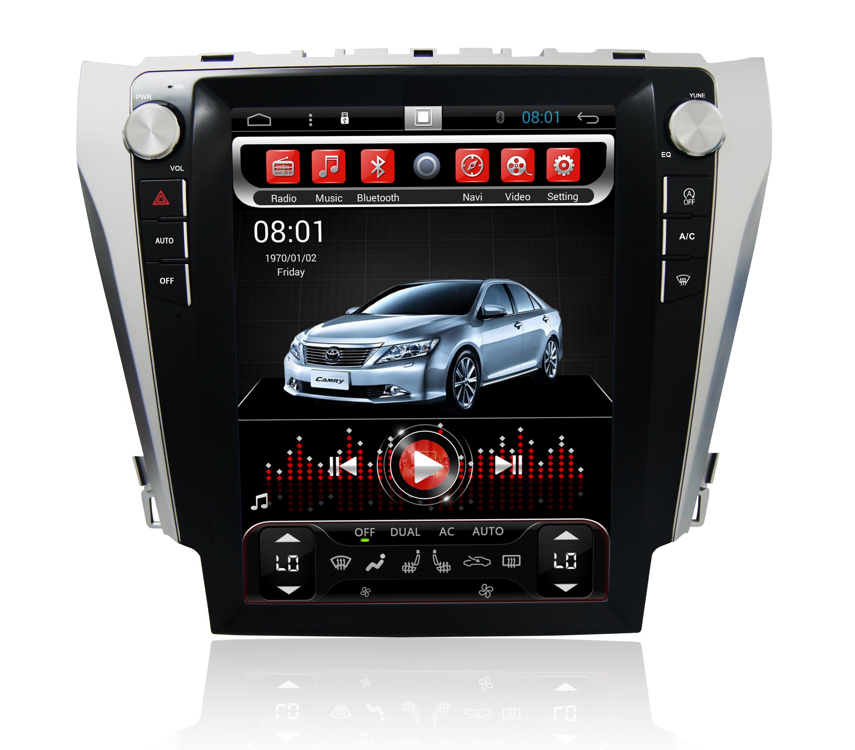 Штатная магнитола CARMEDIA SP-12103 Tesla-Style для Toyota Camry 11.2011+ (V50, V55) Android 7.1.2 vivibright gp90 lcd projector 3200 lumens android 4 44 os