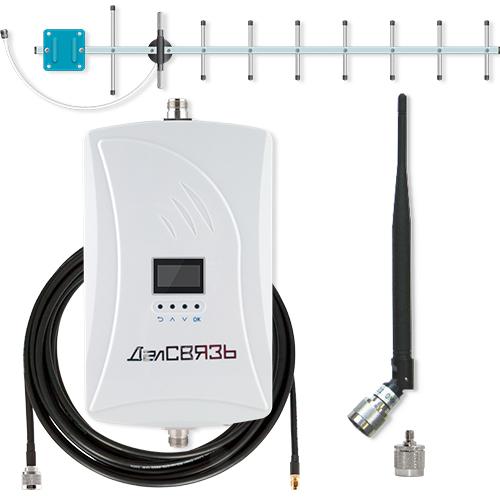 Усилитель сигнала сотовой связи и интернета ДалCвязь DS-900-23 C1 репитер сигнала сотовой связи и интернета далcвязь ds 900 1800 2100 27