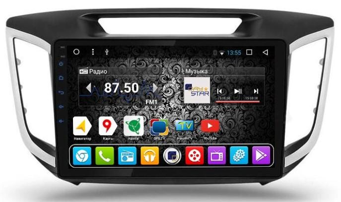 Штатная магнитола DayStar DS-8004HB Hyundai Creta 2016+ Android (8 ядер, 2Gb ОЗУ, 32Gb памяти) + 3G модем штатная магнитола daystar ds 7000hd hyundai h1 2016 android 8 1 0 8 ядер 2gb озу 32gb памяти
