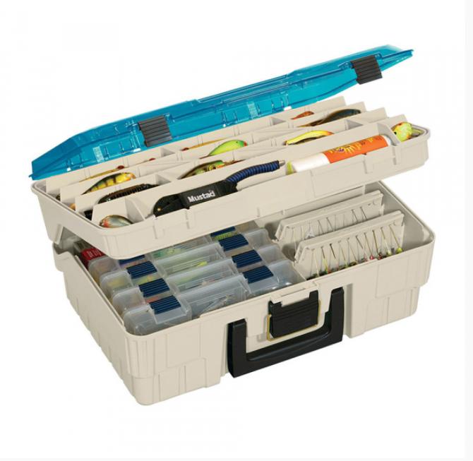цена на Ящик Plano 1350 двухуровневый с прозрачной крышкой для приманок и инструмента