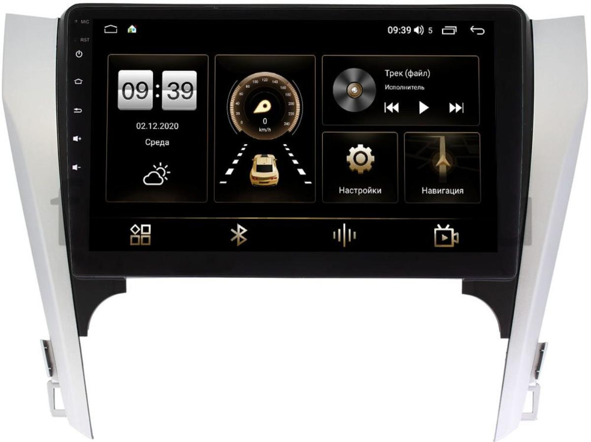 Штатная магнитола LeTrun 4165-10-169-1 для Toyota Camry V50 2011-2014 на Android 10 (4G-SIM, 3/32, DSP, QLed) (для авто с камерой, JBL) (+ Камера заднего вида в подарок!)