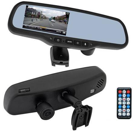 Зеркало заднего вида со встроенным монитором Incar VDR-SK-10