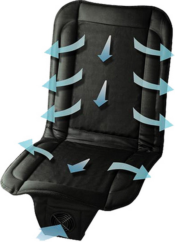 Фото - Охлаждающая накидка с вентиляцией на сиденье автомобиля MagicComfort MCS-20/N авто