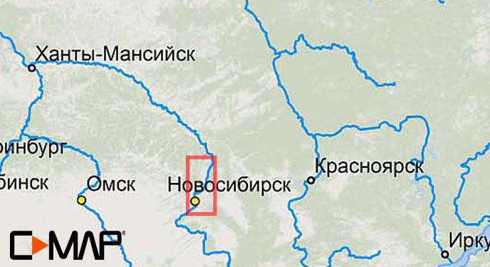 Карта C-MAP RS-N509 - Ноосибирск-Томск