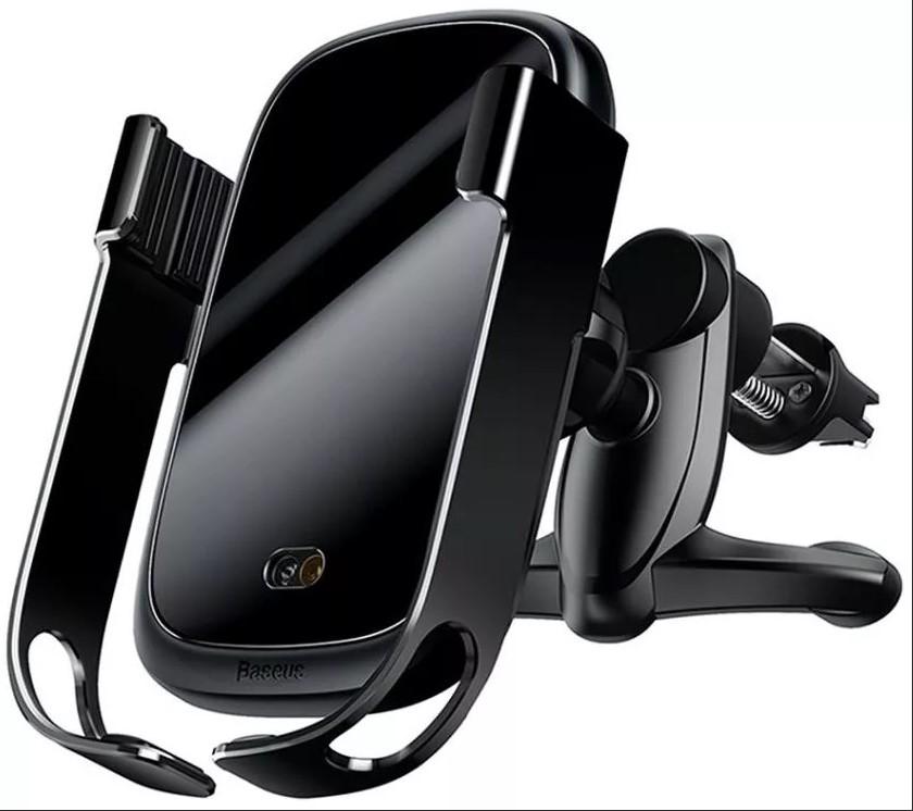 Держатель с беспроводной зарядкой Baseus Rock-solid Electric Holder Wireless charger черный автомобильный держатель с функцией беспроводной зарядки shun zao electric wireless car charger