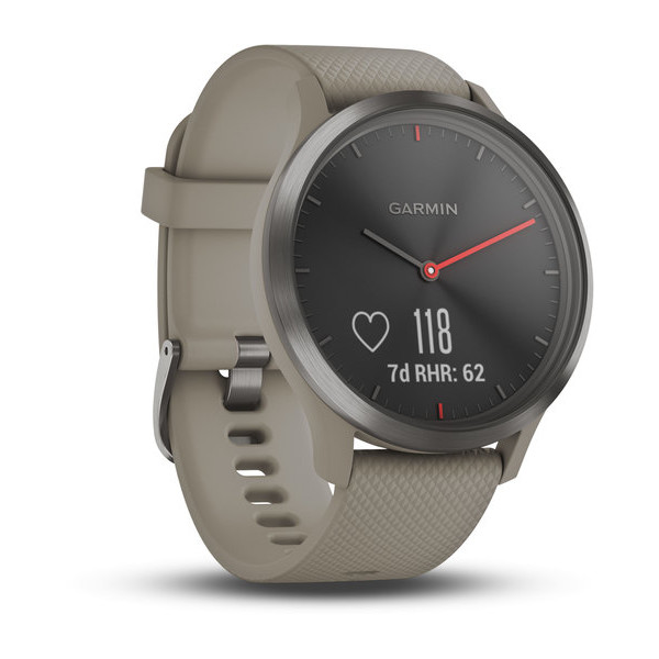 Смарт-часы Garmin vivomove HR, Sport, Black with Sandstone Silicone