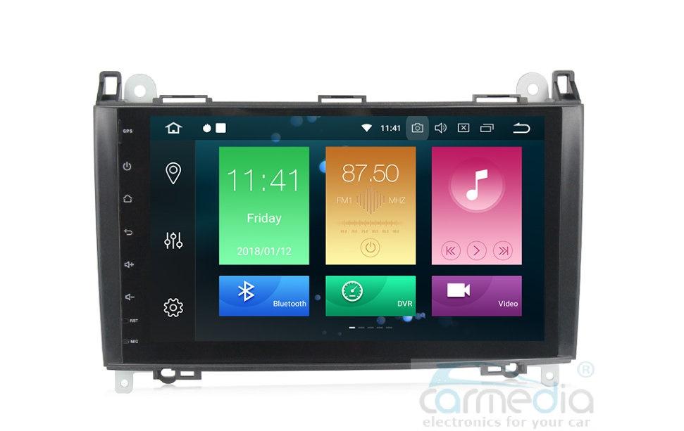 Штатная магнитола CARMEDIA MKD-M787-P30-8 Mercedes, Volkswagen (по списку) Android 9.0 (+ камера заднего вида)CARMEDIA<br>CARMEDIA MKD-M787-P30-8 Головное устройство для Mercedes Volkswagen (по списку) Android 9.0, процессор Octa-Core RK PX30 4x1,6 Ghz, 2Gb Ram, 16 Gb ROM. Радио модуль HD Radio NXP 6686 (используется в аудиосистеме Mercedes и BMW) уверенный приём даже при самом слабом сигнале. Аудио усилитель в связке с DSP процессором дает чистейший объемный звук!
