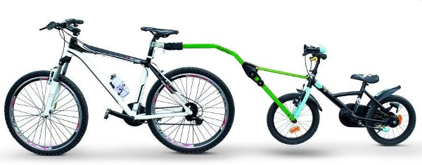 Прицепное устройство PERUZZO Trail Angel детского велосипеда к взрослому (зеленое) peruzzo велокрепление на фаркоп автомобиля arezzo 3 велосипеда