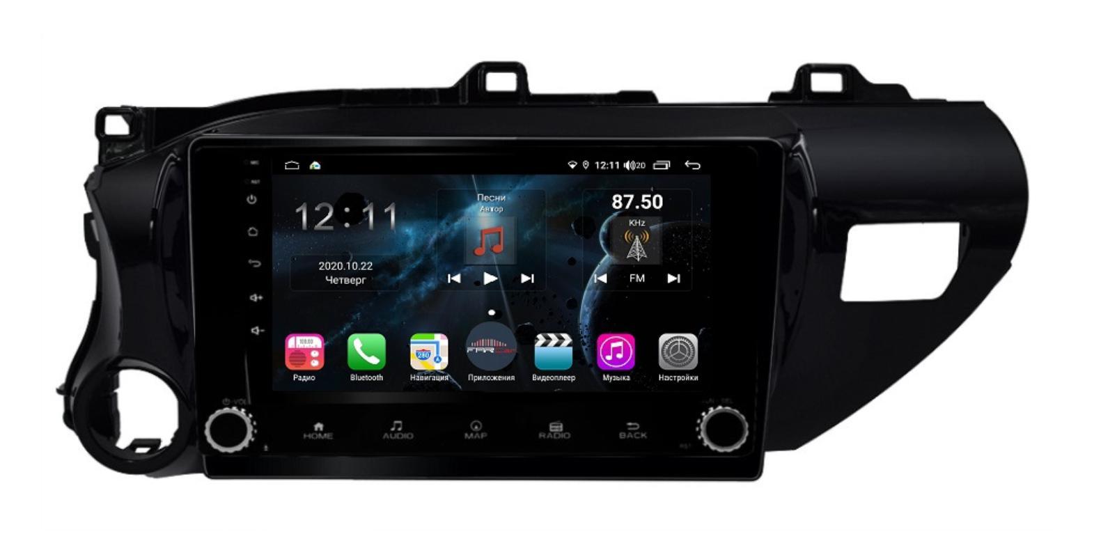 Штатная магнитола FarCar s400 Toyota Hilux на Android (H1077RB) (+ Камера заднего вида в подарок!)