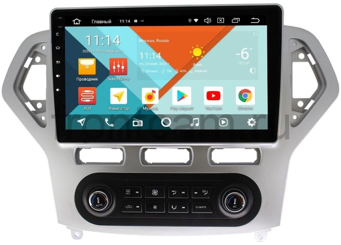 Штатная магнитола Ford Mondeo IV 2007-2010 Wide Media KS1016QM-2/32 DSP CarPlay 4G-SIM для авто с климат-контролем на Android 10 (+ Камера заднего вида в подарок!)