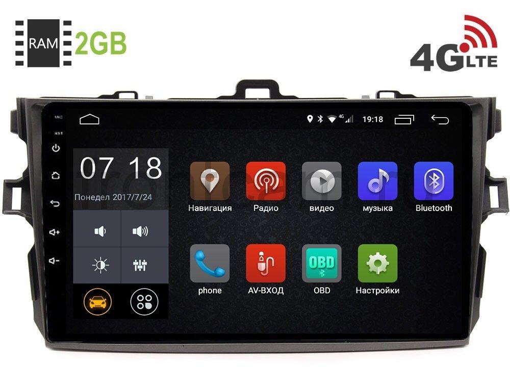 Штатная магнитола LeTrun 2664 для Toyota Corolla X 2006-2013 Android 6.0.1 9 дюймов (4G LTE 2GB) (+ Камера заднего вида в подарок!)