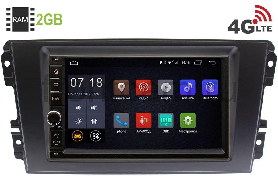 Штатная магнитола LeTrun 1968-RP-DTOD-95 для Datsun On-Do, Mi-Do 2014-2019 Android 6.0.1 7 дюймов (4G LTE 2GB) (+ Камера заднего вида в подарок!)