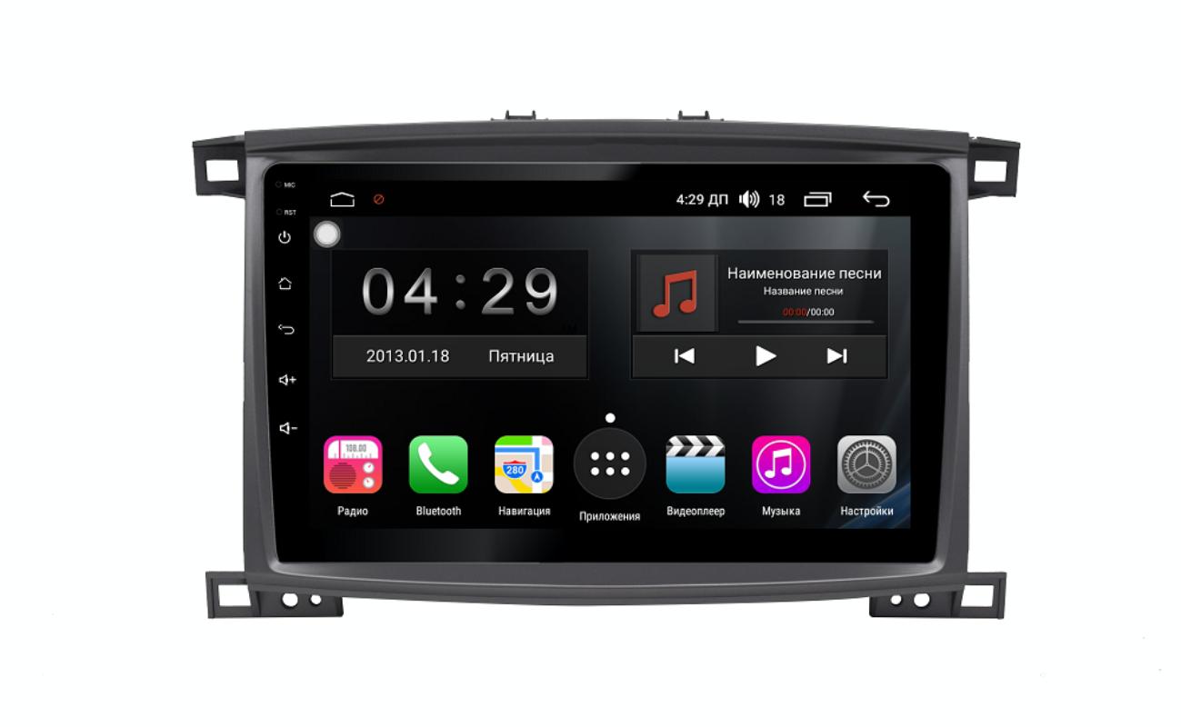 Штатная магнитола FarCar s300-SIM 4G для Toyota Land Cruiser 100 на Android (RG457/1166R) (+ Камера заднего вида в подарок!)