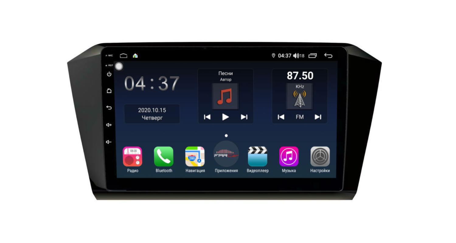 Штатная магнитола FarCar s400 для VW Passat на Android (TG518R) (+ Камера заднего вида в подарок!)