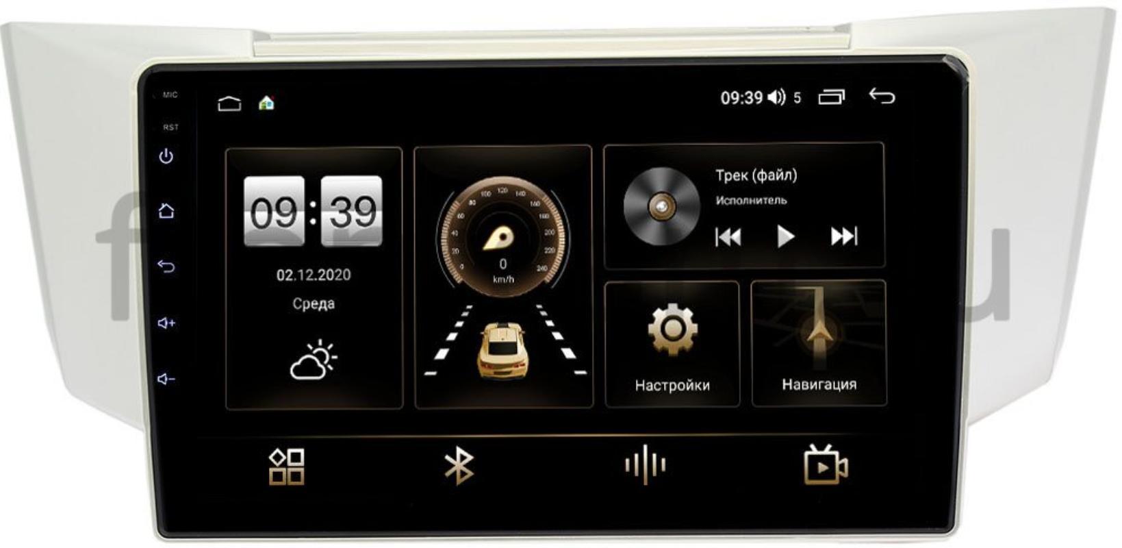 Штатная магнитола Toyota Harrier II (XU30) 2003-2013 LeTrun 4196-9161 на Android 10 (6/128, DSP, QLed) С оптическим выходом (+ Камера заднего вида в подарок!)