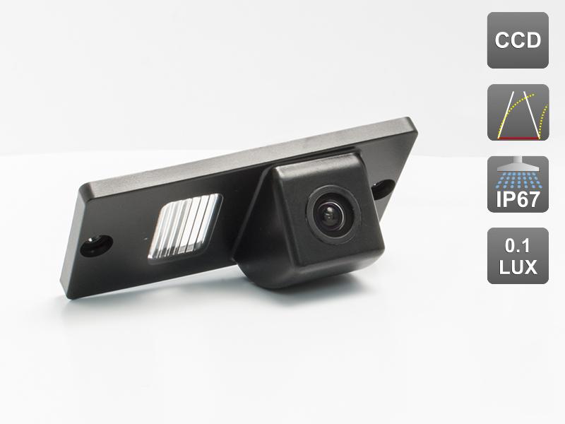 CCD штатная камера заднего вида с динамической разметкой AVIS Electronics AVS326CPR (#037) для KIA SPORTAGE II (2005-2010) / CARNIVAL