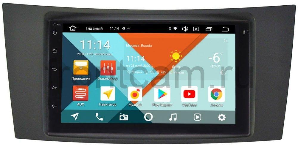 Магнитола в штатное место 2 din Mercedes E-klasse (W211) 2002-2009 Wide Media MT7001PK-2/16-RP-MREB-120 на Android 9.1 (DSP 3G-SIM) (+ Камера заднего вида в подарок!)
