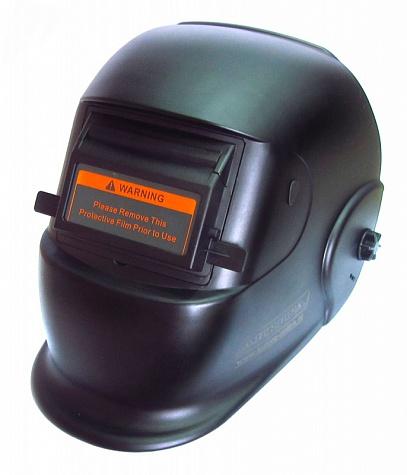 Маска сварщика с поднимающимся светофильтром Aurora A-12 Black Glass (12DIN)Сварочные аппараты<br>Маска с поднимающимся светофильтром защищает от брызг металла, УФ/ИК излучений, искр. <br><br><br> Материал полиэтилен. Размер защитных пластин 108x50мм. Размер площади светофильтра 105x50мм, Вес 0.4 кг.