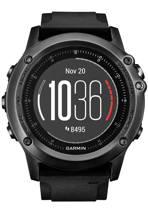 Garmin Fenix 3 Sapphire (black) HR garmin fenix 3 hr steel on black