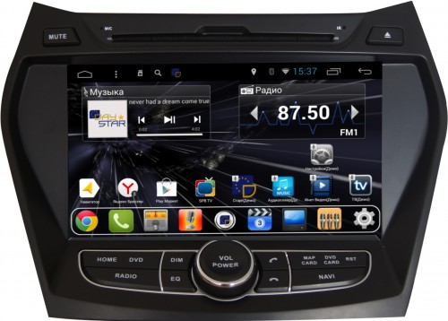 Штатная магнитола DayStar DS-7004HD Hyndai Santa Fe 2012 ANDROID 8.1.0 (8 ядер, 2Gb ОЗУ, 32Gb памяти) outad automatic mechanical watches classic hollow steel watch band luxury high quality fashion men male relogio masculino 2017