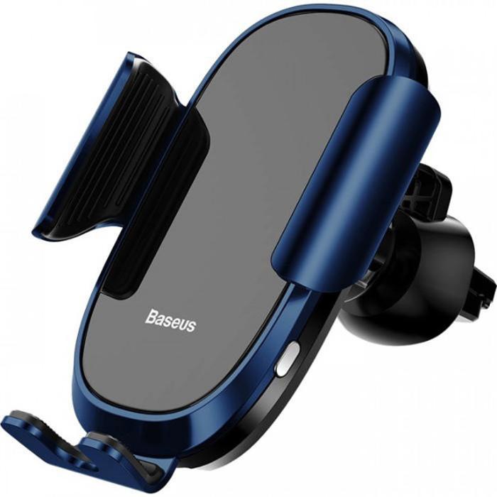 Держатель для смартфона с автоматическим зажимом Baseus Smart Car Mount Cell - Синий автомобильный держатель onetto tablet mount easy smart tab 2