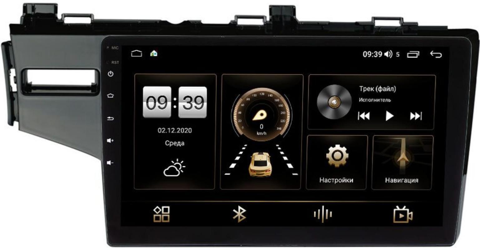 Штатная магнитола Honda Jazz III 2015-2021 (левый руль) LeTrun 4195-10-468 на Android 10 (6/128, DSP, QLed) С оптическим выходом (+ Камера заднего вида в подарок!)