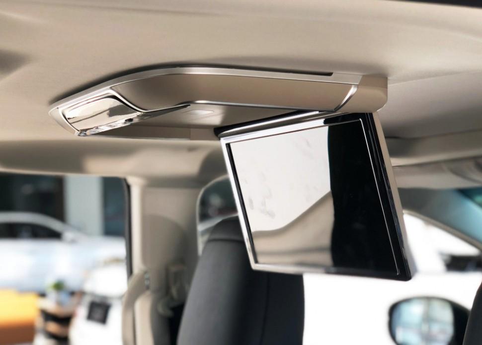 Автомобильный потолочный монитор Full HD 13,3 ERGO ER13AND на ANDROID (серый) (+ Беспроводные наушники в подарок!) навесной монитор на подголовник ergo er10an android 6 беспроводные наушники в подарок