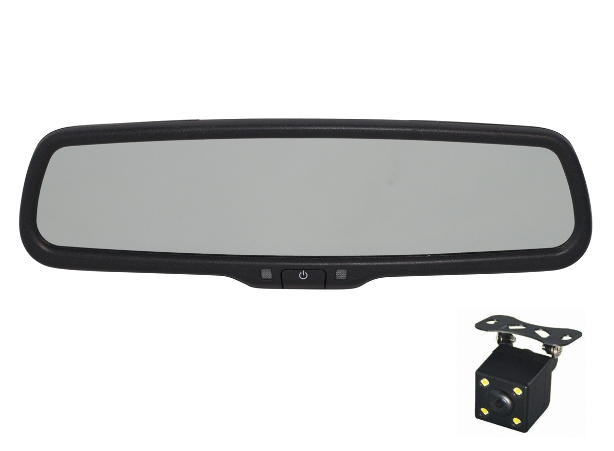 Зеркало видеорегистратор Redpower MD43 NEW для автомобилей Chrysler, Toyota аналог ножки-крепления №1 (крепление №26)