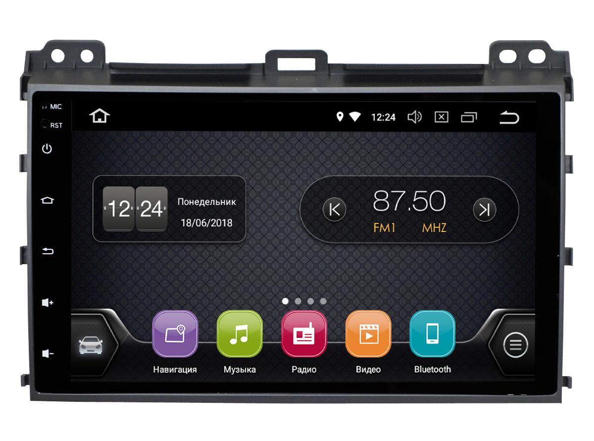 Штатная магнитола InCar TSA-2244 для Toyota Prado 120 (Android 8.0) (+ Камера заднего вида в подарок!)