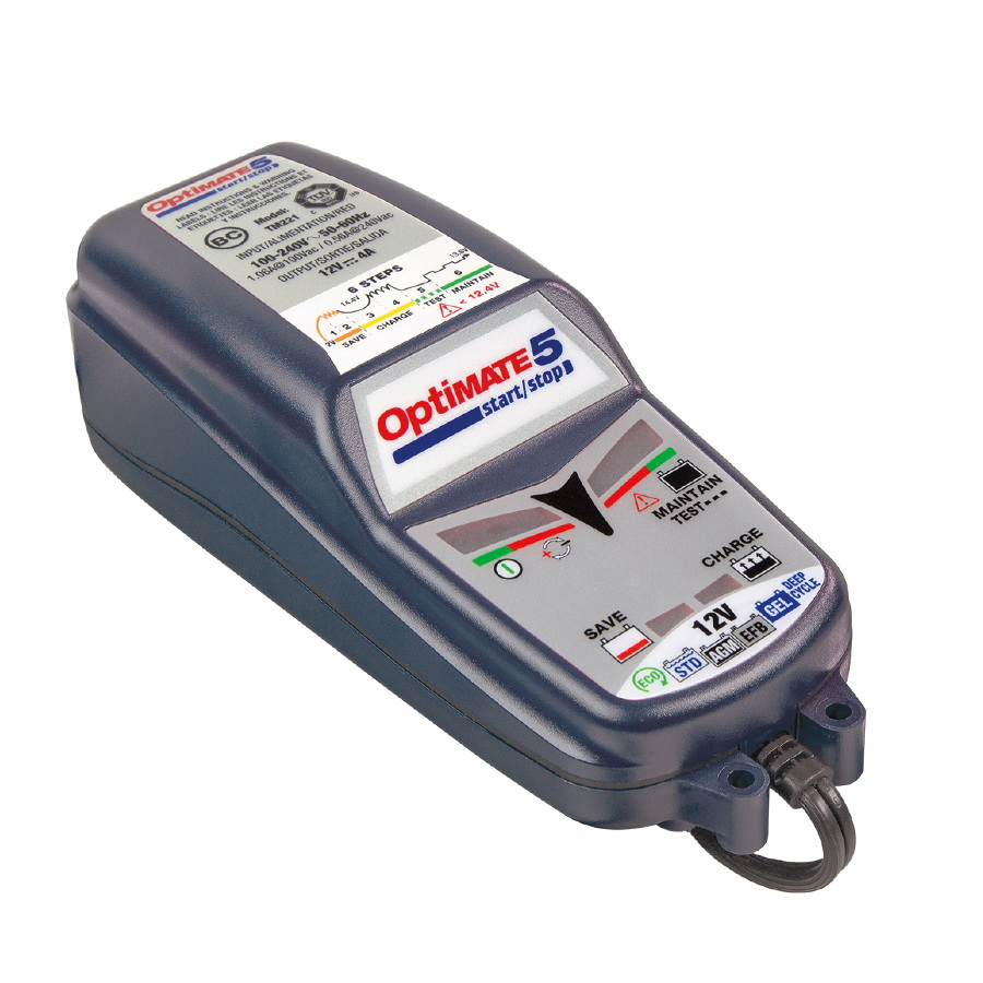 Зарядное устройство OptiMate 5 Start-Stop TM220 пуско зарядное устройство агрессор agr sbc 040 brick 9 фаз зарядки ток зарядки 4а для 6v 12v акб
