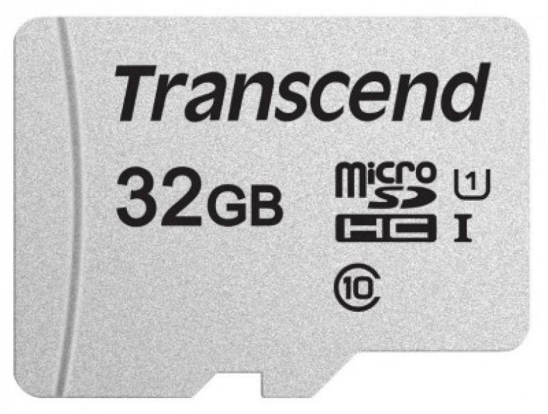 Карта памяти UHS-1 MicroSDHC 300S 32GB Transcend
