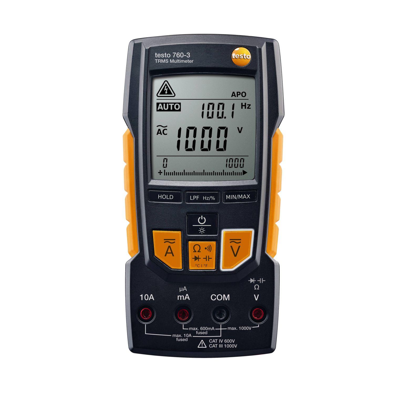 Мультиметр цифровой с функцией измерения истинного СКЗ Testo 760-3.