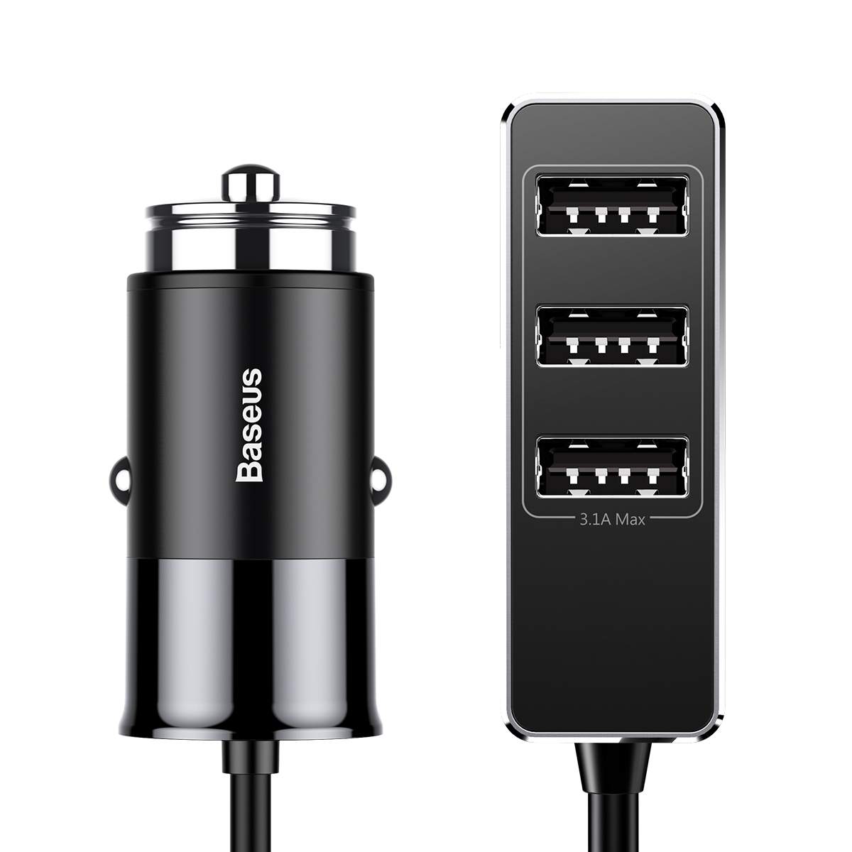 Автомобильное зарядное устройство Baseus Enjoy Together Four Interfaces Output Patulous Car Charger 5.5A Black цена