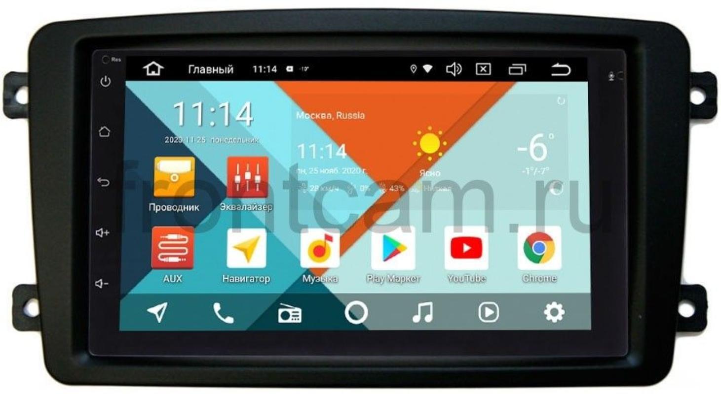 Штатная магнитола Mercedes C-klasse (W203), CLK-klasse (W209), Vito, Viano, G-klasse (W463) Wide Media KS7001QR-3/32-RP-MRCB-51 на Android 10 (DSP CarPlay 4G-SIM) (+ Камера заднего вида в подарок!)